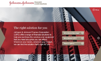 iPad html5 application for Johnson and Johnson larger